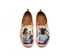 UIN La femme égyptienne Chaussures bateaux de cuir comfortable multicolore pour femme 2018