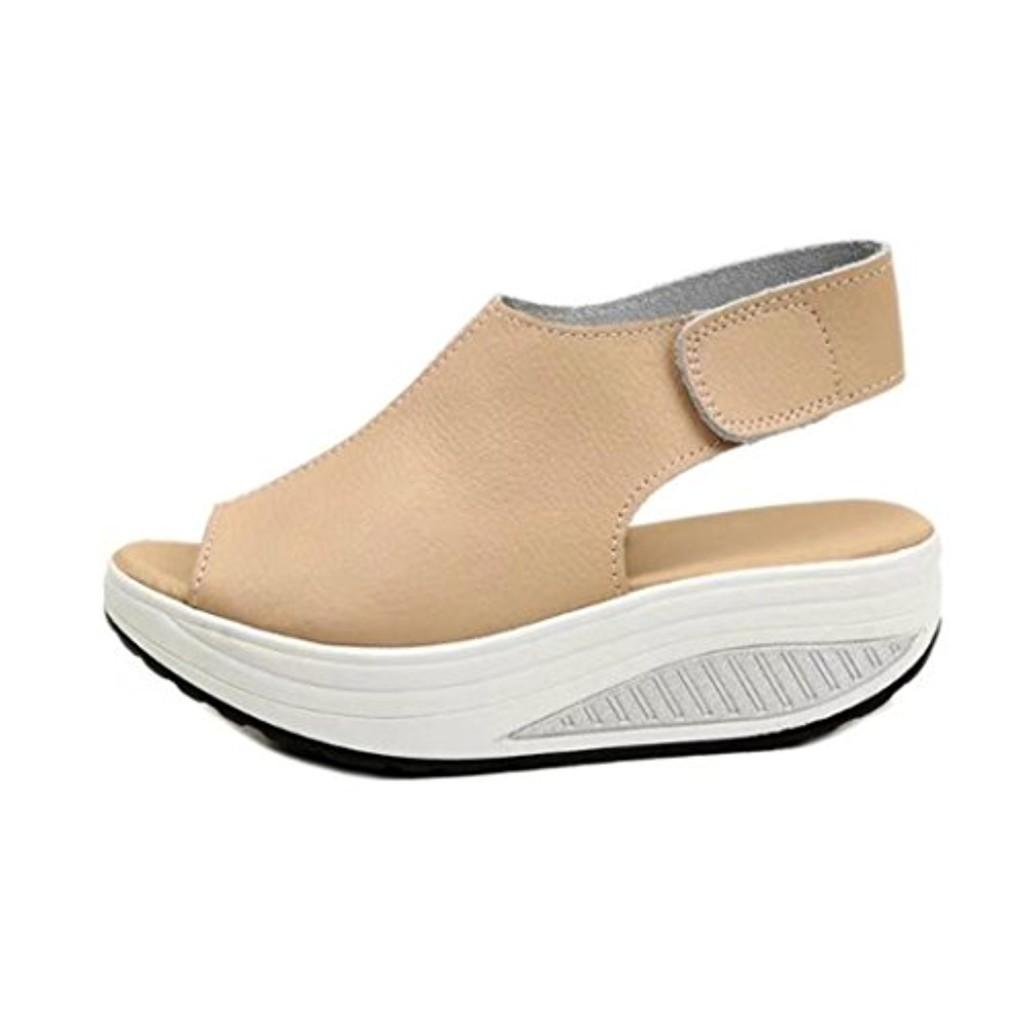 2018 Nouvelles sandales de femmes,GreatestPAK Bohême Chaussures à talons hauts Summer Shake Fond épais 2018