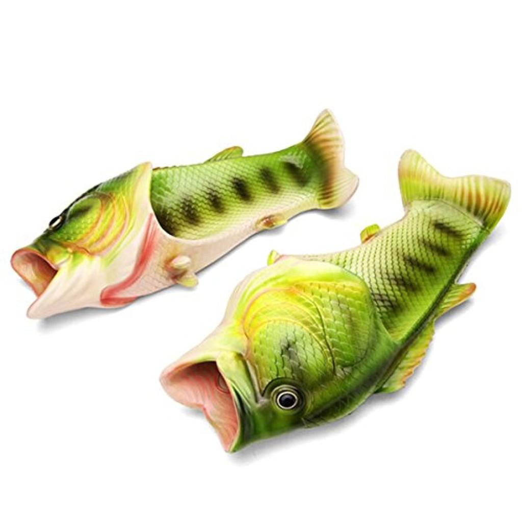 Butterme Unisexe Anti Skid Fish Animal Slippers Funny Beach slip sur Open Toe Slide Casual Sandals Chaussons de douche pour femmes Hommes Enfants 2018