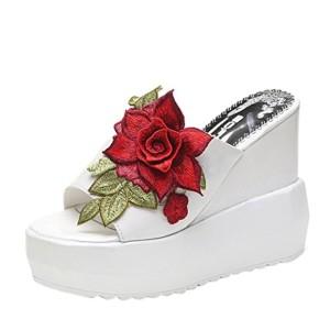 Chausson à Talons Hauts, GreatestPAK Pantoufles à Talon épais à Broderies pour Femmes Wedges Platform Chaussures 2018