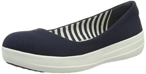 FitFlop F-Sporty Ballerina Canvas, Ballerines Femme 2018