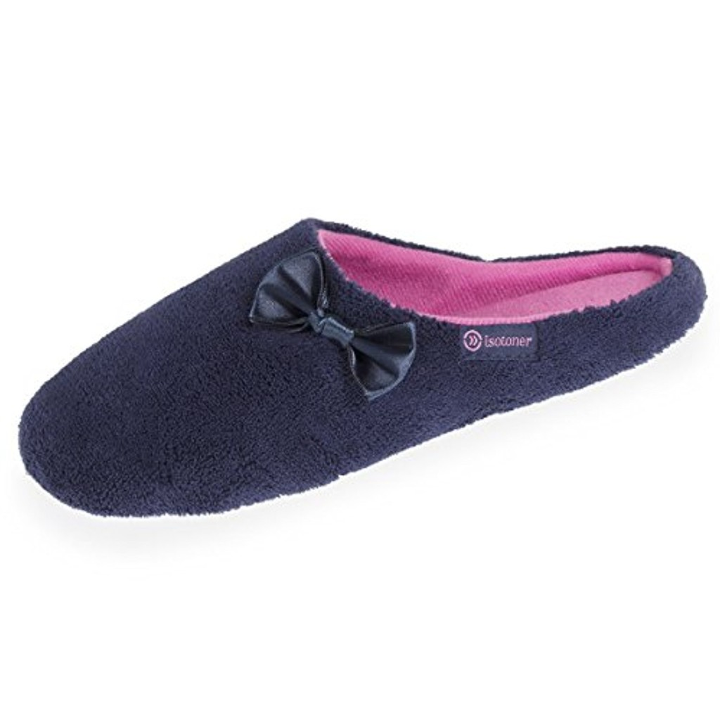 Isotoner Chaussons Mules Femme nud Satin 2018