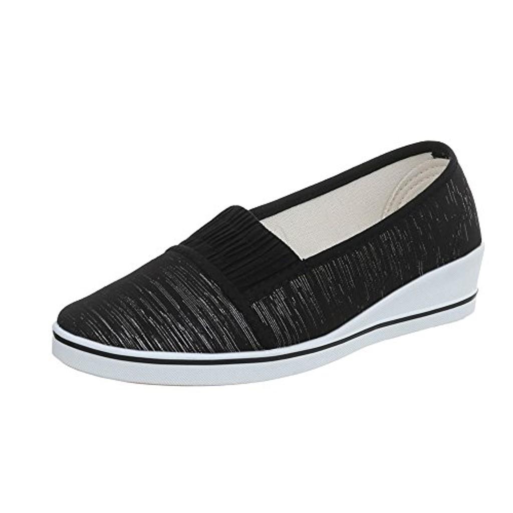 Ital-Design Chaussures Femme Mocassins Compensé Slippers 2018