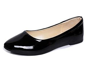 Minetom Femmes Élégant Faux Cuir Chaussures Plates Été Printemps L'Automne Casual Danse Chaussures 2018