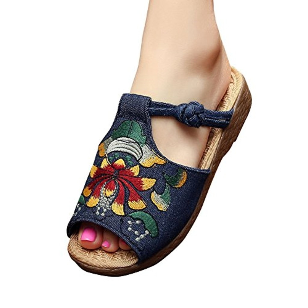Chic D'été Style Chaussures Chaussons Missmao Broderie Chinoise wpqAPTc5x