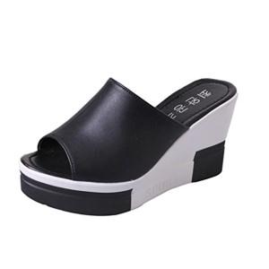 Sandales de Femme, Yesmile Pantoufles à Talons Hauts Sandales Compensées Pantoufles Sexy Chaussures Été Sandales Fashion 5-8 CM 2018