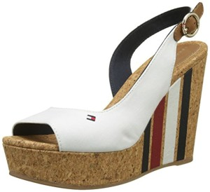 Tommy Hilfiger Wedge With Printed Stripes, Espadrilles Femme 2018