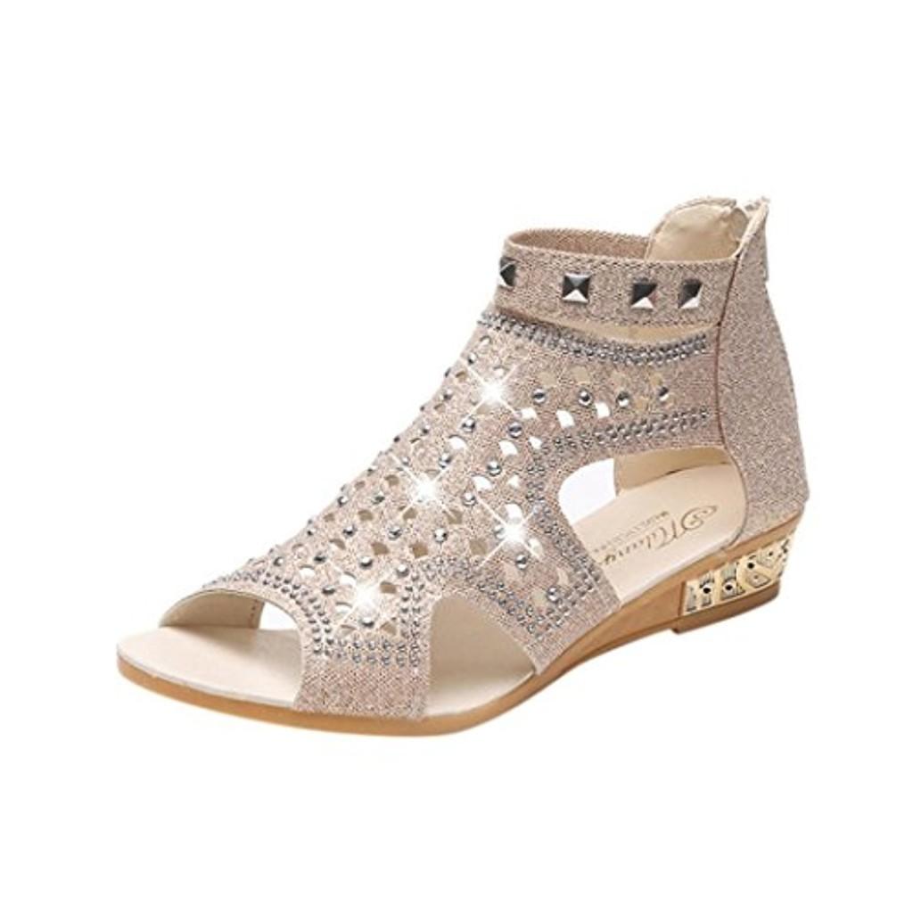 Xinxinyu Sandales Chaussures Femme ❤️ Mode Bouche de Poisson Ete Sandales Femmes Tongs Plateforme Chaussures 2018