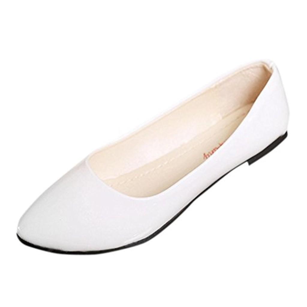 LUCKYCAT Prime Day Amazon, Sandales d'été Femme Chaussures de Été Sandales à Talons Chaussures Plates Casual Coloré Cuir Verni Glisser la Surface Mode Couleur Unie Simple 2018 2018