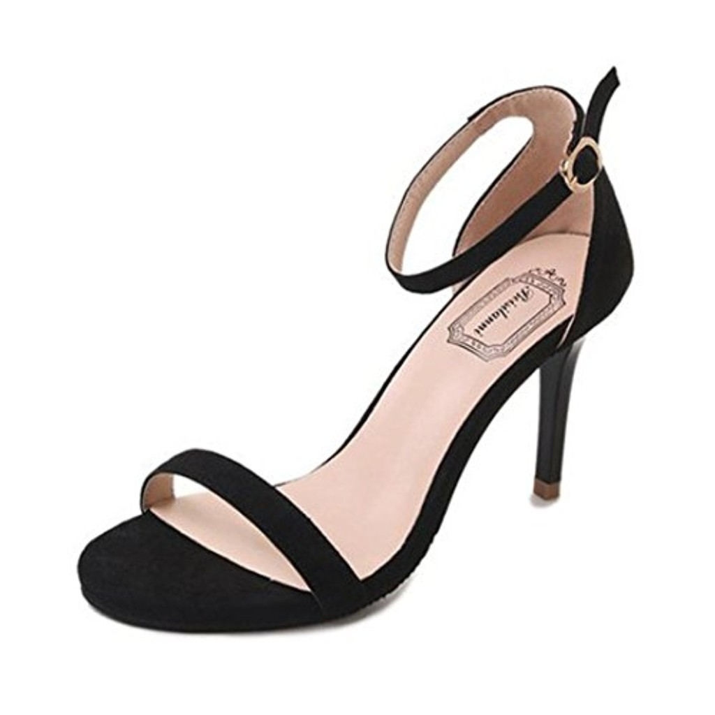 LUCKYCAT Prime Day Amazon, Sandales d'été Femme Chaussures de Été Sandales à Talons Chaussures Plates Cheville Commune Talons Hauts Parties Chaussures à Bout Ouvert 2018 2018