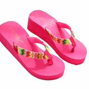 LUCKYCAT Prime Day Amazon, Sandales d'été Femme Chaussures de Été Sandales à Talons Chaussures Plates Sandales Plate-Forme Plage Coin Plat Patch Flip Pantoufles 2018 2018