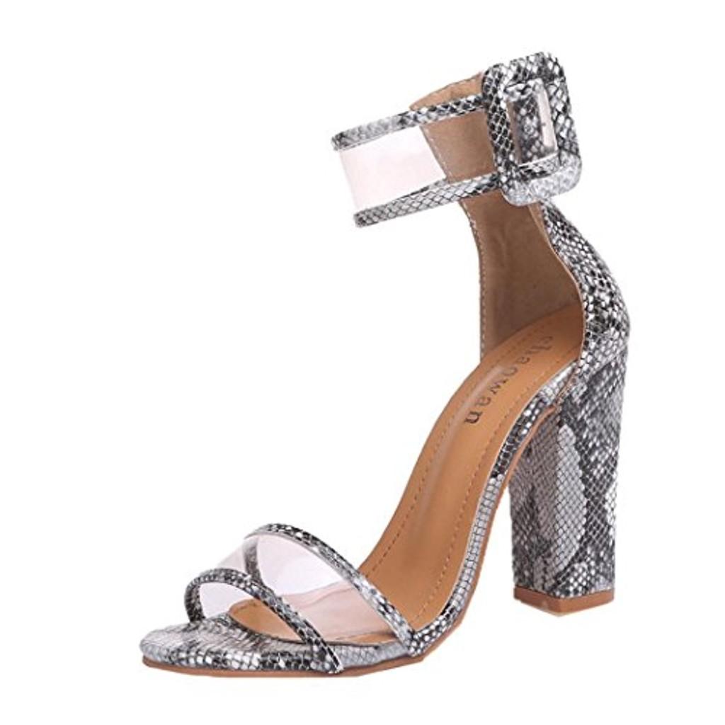 LUCKYCAT Prime Day Amazon, Sandales d'été Femme Chaussures de Été Sandales à Talons Chaussures Plates Talons Hauts Rosée Boucle de Plate-Forme Talons Hauts 2018 2018