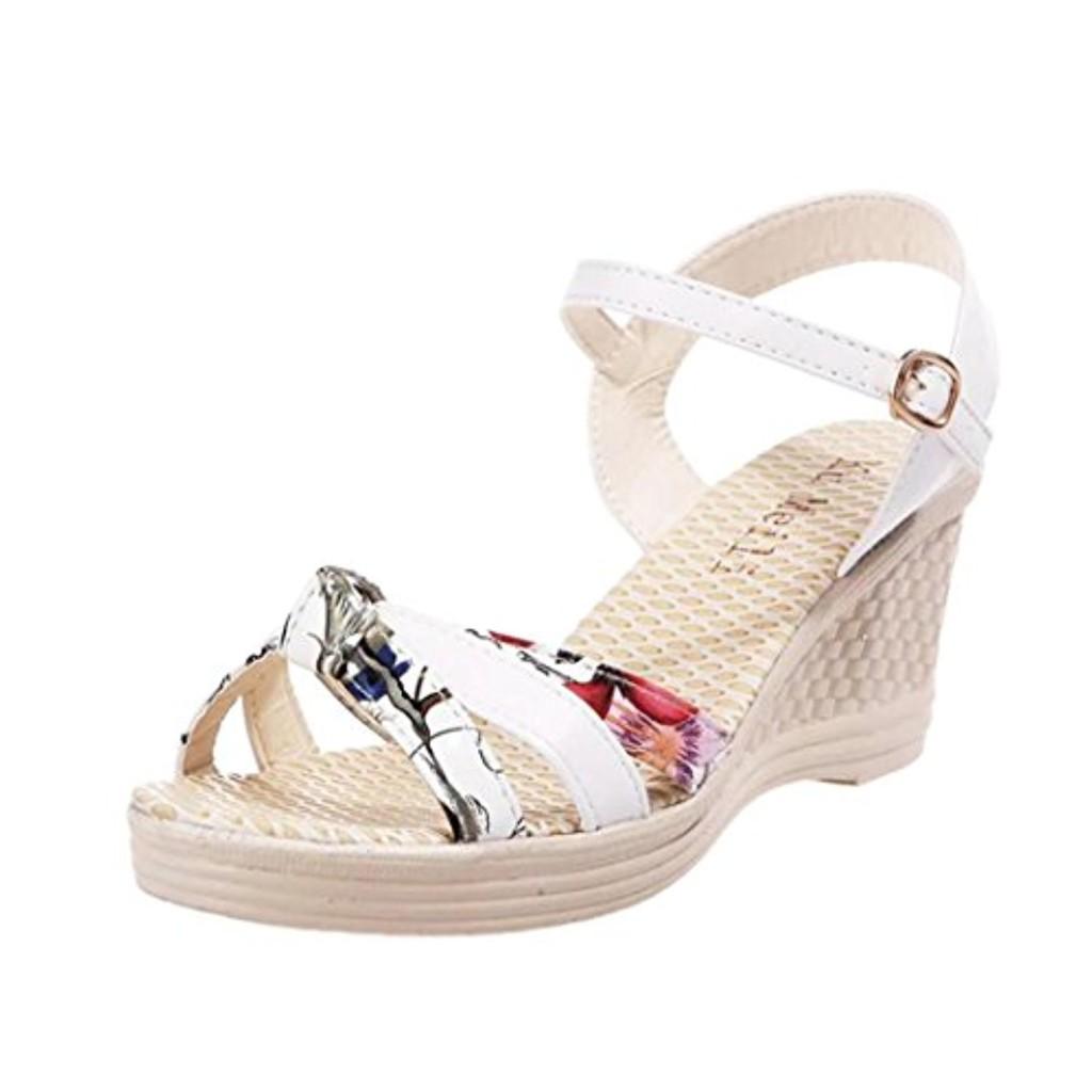 LUCKYCAT Sandales pour Femme, Prime Day Amazon Chaussures de Été Sandales à Talons SandalesSandales Compensées Summer Sandals Platform Toes Chaussures à Talons Bow Multicolore 2018 2018