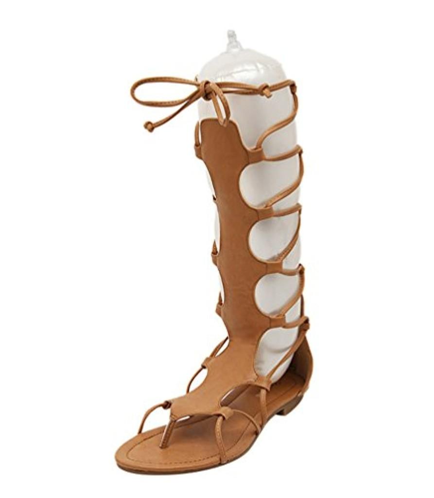 NiSeng Femmes Flat Eté Gladiateur Bottes Romain Lacets Sandale Spartiate Sandale 2018