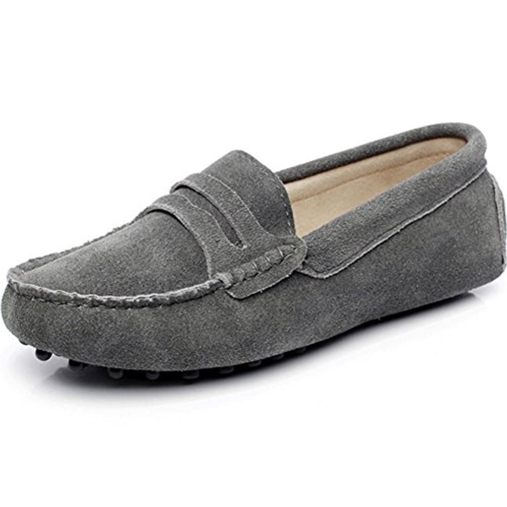 rismart Femmes Mode Glisser Sur Mocassins Décontractée Suède Cuir Flâneurs Chaussures 2018
