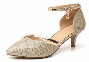 WUIWUIYU Femme Bout Fermé Escarpins Chaussures de Cérémonie Mariage 2018