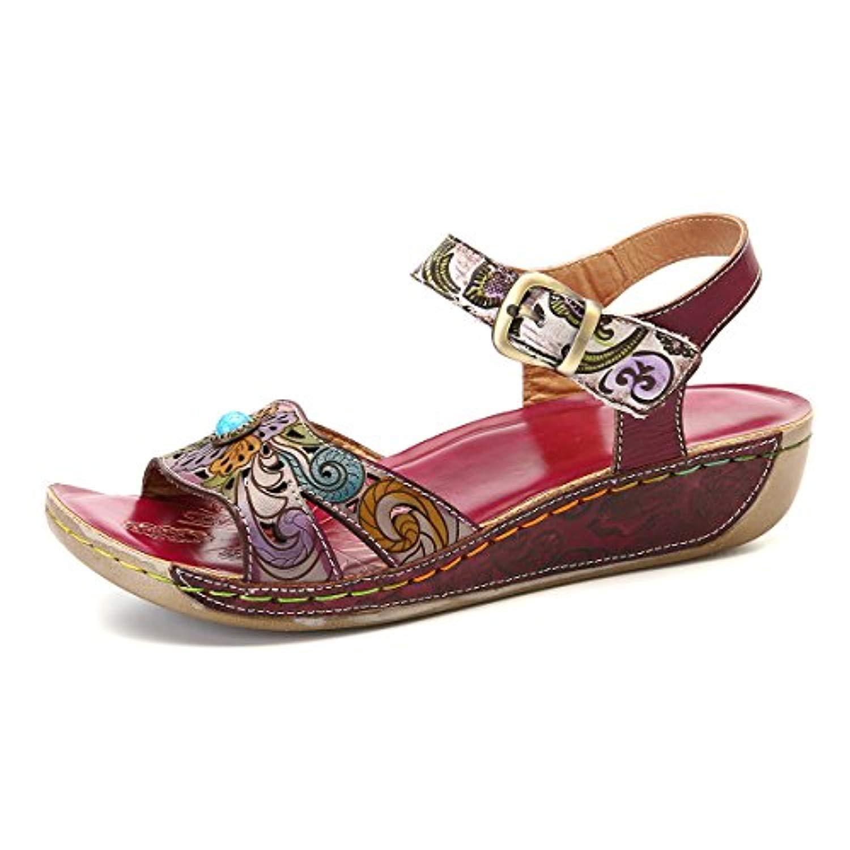 gracosy sandales cuir femmes chaussures de ville t compens es talons compens s plateforme. Black Bedroom Furniture Sets. Home Design Ideas
