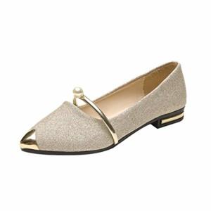 LUCKYCAT Prime Day Amazon, Sandales d'été Femme Chaussures de Été Sandales à Talons Chaussures Plates Décontractées à Talons Perle Four Seasons Chaussures Simple Et Pratique 2018 2018