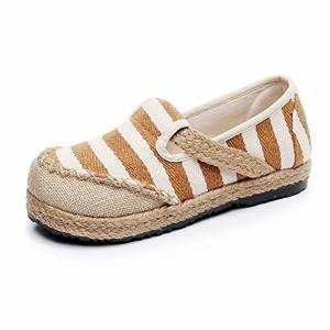 MISSMAO Femme Espadrilles Rayures Chaussures d'été de Bout Rond à Enfiler Confortable Et Respirant 2018