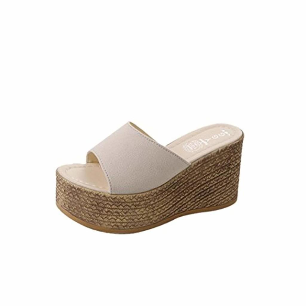 Sandales de Femmes, Talons Compensés Talons Compensés Sandales de Femmes Talons Compensés Sandales Peep Toes à Semelle Epaisse et Solide 2018