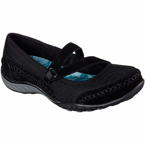 Skechers Breathe-Easy-Lucky Lady, Mary Janes Femme, Anthracite 2018