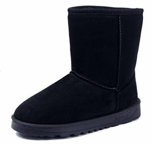 AgeeMi Shoes Femme Neige Bottes Hiver Chaudes Flat Suedé Classic Solide Bottes 2018