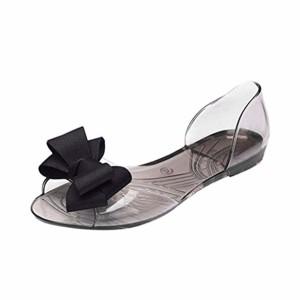Angelof Sandales Femmes, Sandales Femmes Plastique Ete Sandale Grande Fille Noeud Papillon Chaussures Plates Mode Bow Poisson Bouche Transparente Escarpins Ouvert 2018