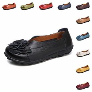 Gaatpot Femmes Fleurs Cuir Mocassins Casual Respirant Bateau Chaussures Plates Loafers Chaussures de Conduite Sandales, 11 Couleurs 2018