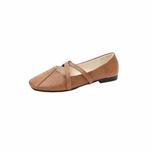 LUCKYCAT Prime Day Amazon, Sandales d'été Femme Chaussures de Été Sandales à Talons Chaussures Plates Vintage Chaussures Plates Peau Croisée Chaussures en Cuir Chaussures Décontractées 2018