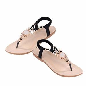 LUCKYCAT Sandales pour Femme, Prime Day Amazon Chaussures de Été Sandales à Talons Strass Hibou Sandales Sandales à Lanières Chaussures de Plage À la Mode 2018 2018
