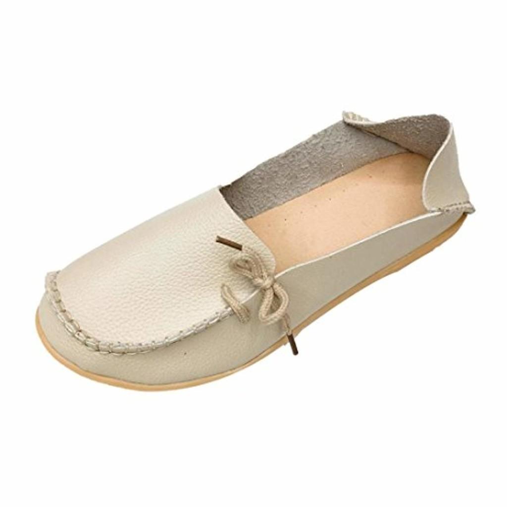 LuckyGirls Femmes Dames Flats Mocassins, Occasionnels Respirant Tête Ronde Molle de Fond de Bateau Chaussures 2018
