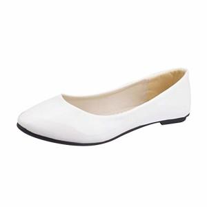 MISSMAO Femmes Élégant Faux Cuir Chaussures Plates Ballerines Été Printemps L'Automne Casual Danse Chaussures 2018