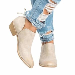 Western Ankle Boots Femme Hiver Bottines Chelsea à Talon,Overdose Soldes Automne Chaussures Bottes en Cuir Sexy Boots 2018
