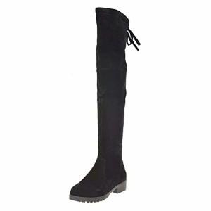 Covermason Bottes et Boots Mode Automne Hiver Femmes Milieu Talon Bas Bottes Knee High Leg Long 2018