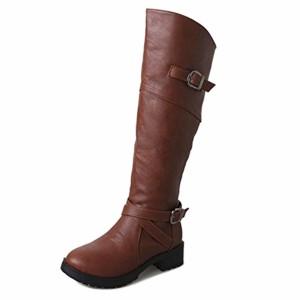 ESAILQ Femmes en Cuir Chevalier Boucle Bottes Faux Plat Martin Chaussures 36-43Taille 2018