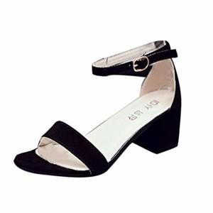 LUCKYCAT Prime Day Amazon, Sandales d'été Femme Chaussures de Été Sandales à Talons Chaussures Plates Sandales à Lanières Simples avec Bretelles Sandales à Talons Hautes d'été 2018