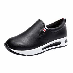 Tennis Compensees en Cuir Femme,Overdose Baskets Automne Hiver Chaussures Plates à Enfiler sans Lacets Casual Cushion Loafers Sneakers 2018