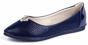 AgeeMi Shoes Femmes Ballerines Couleur Unie Clouté Chaussures Décorations Pearl 2018