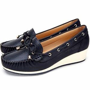 Cestfini Chaussures Bateau Confortables Femmes compensé Mesdames Mocassins Respirant, Le Choix pour Le Travail et l'usure Quotidienne, Chaussures Plate-Forme Dames 2018