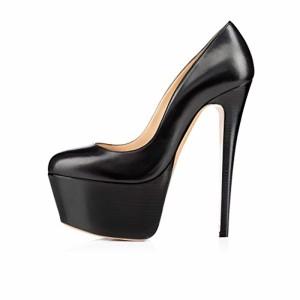 elashe Femmes – Escarpins – Semelle Compensée 5 cm – Talon Aiguille 15CM – Bout Rond Fermé – Plateformes Talons Chaussures 2018