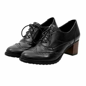 Femme Derbys Tête Ronde Chaussures Oxford Creux Chaussures à Lacets Sculpté Chaussures à Talons Mi Rétro 3 Couleur Unie Chaussures Femme Couleurs 35-43 2018