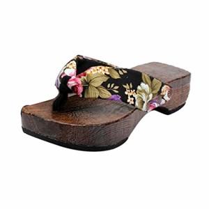 LUCKYCAT Amazon, Sandales d'été Femme Chaussures de Été Sandales à Talons Chaussures Plates Chaussures à Plateforme Chaussures en Bois Pantoufles Talon Haut 2018 2018