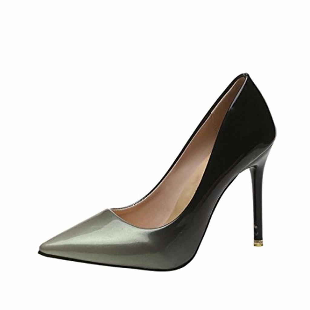 LUCKYCAT Sandales d'été Femme, Prime Day Amazon Chaussures de Été Sandales à Talons Chaussures Plates À la Mode Couleur de Dégradé Chaussures de Brevet Talons Hauts 2018 2018
