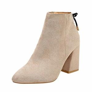 SANFASHION Bottes Chelsea Femmes Bottes Chukka Haut Bout Épais Bottes Classique Chaussures Casual Élégant 2018