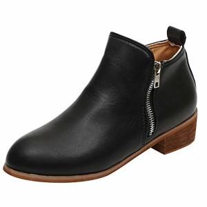 S&H-NEEDRA Chaussures Femmes Automne Hiver Mode Bottines Short Bottines en Cuir Chevalier Dames Martin Bottes Chaussures Boot 2018