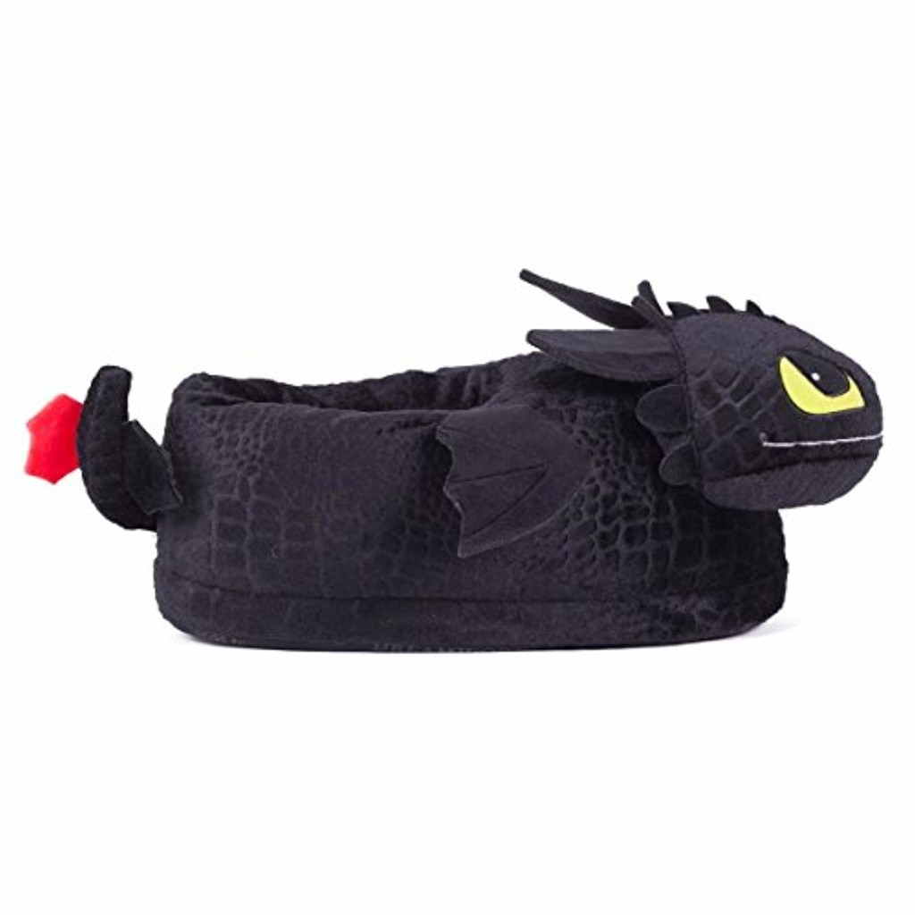 Sleeper'z - Chaussons Peluche Krokmou - Dragons - Homme Femme Enfant - Cadeau Original - Officiel DreamWorks 2018