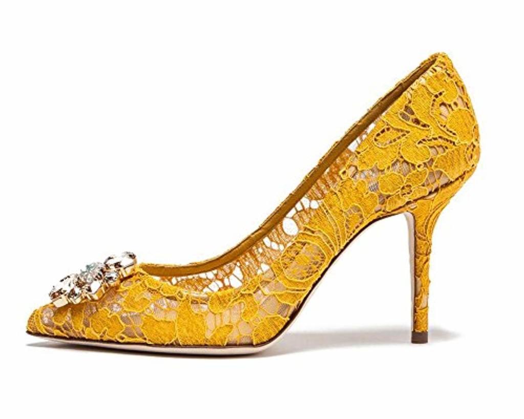 uBeauty Escarpins Dentelle Femmes Diamant Pointues Toe Chaussures de Mariage Stilettos Usure Parti 2018