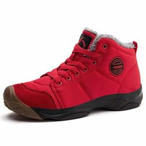 Axcone Chaussures Homme Femme Bottes Hiver imperméable Neige Randonnee Chaudement Chaudes Fourrure Baskets Bottines – Gris Rouge Marron Cyan Noir Rose 36-48EU 2018