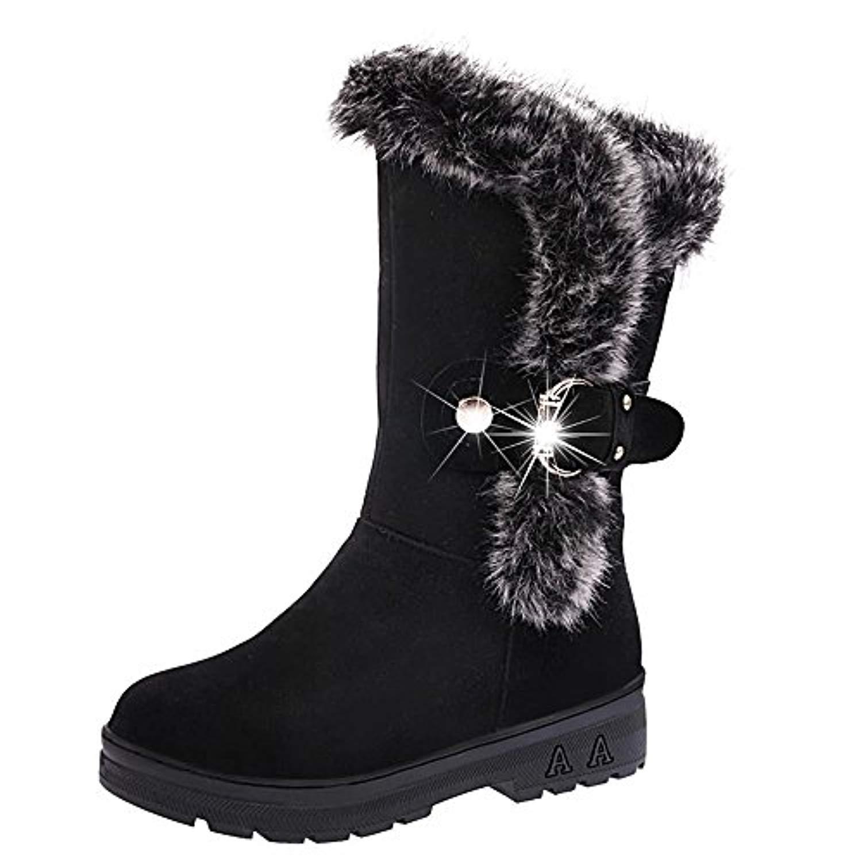 bottes de neige femmes chaussures bottes cuissardes d 39 hiver bottes fourr es femmes bottes slip. Black Bedroom Furniture Sets. Home Design Ideas