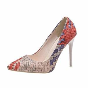 ESAILQ Escarpins Femme Sexy,Coupe Fermées Femme,Talon Haut Aiguille Chaussures 2019